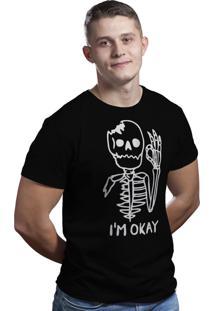 Camiseta Hunter Caveira Okay Preta
