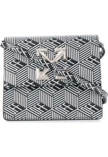 Off-White Bolsa Transversal Com Estampa Gráfica - Preto