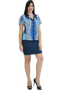 62059df785 Saia E Mini Saia Azul Fashion feminina