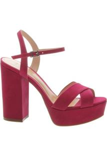 Sandália Salto Meia Pata Nobuck Pink | Schutz