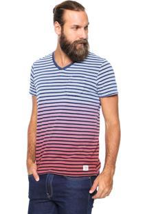 Camiseta Wrangler Listras Azul