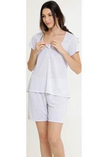 Pijama Feminino Maternidade Estampa Bolinhas Marisa