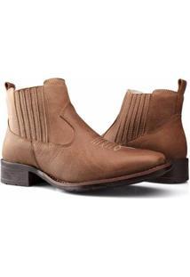 Bota Texana Country Capelli Boots Couro Cano Curto Fechamento Elástico Feminina - Feminino