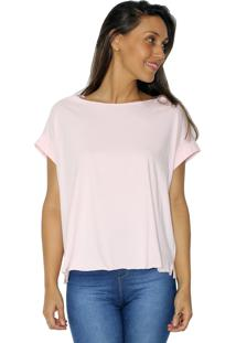 Camiseta Tea Shirt Boyfriend Rosa
