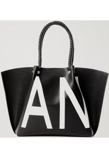 Bolsa Shopping Bag Anml Preto