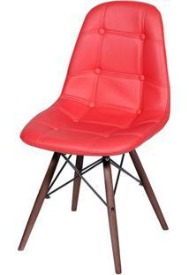 Cadeira Eames Botone Vermelha Base Escura - 44873 - Sun House