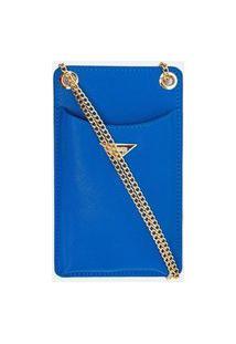 Bolsa Porta Celular Lisa   Satinato   Azul   U
