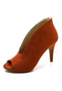 Sapato Boot Flor Da Pele Ferrugem