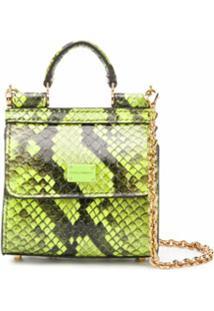 Dolce & Gabbana Bolsa Sicily 58 Micro - Verde
