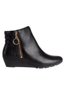 Bota Feminina Ankle Boot Modare Anabela Preto