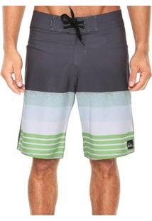 Bermuda Quiksilver Boardshort Caliber Masculina - Masculino-Cinza+Verde