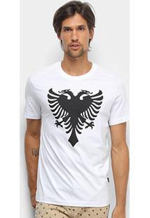 Camiseta Cavalera T Shirt Águia Colors Masculina - Masculino-Branco+Preto