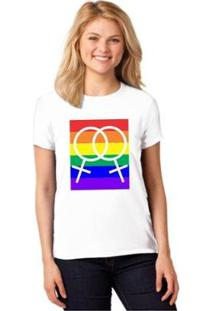 Camiseta T-Shirt Lgbt Homossexual Baby Look Feminina - Feminino-Branco
