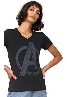 Blusa Cativa Marvel Avengers Preta