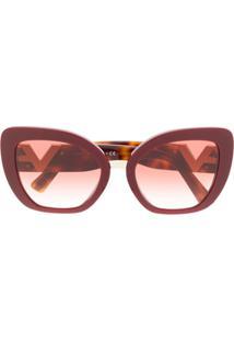 Valentino Eyewear V Logo Sunglasses - Vermelho