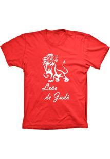Camiseta Lu Geek Manga Curta Leão De Judá Vermelho