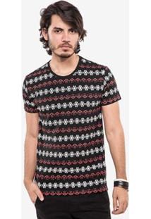 Camiseta Hermoso Compadre Étnica Duo Masculina - Masculino-Preto