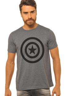 Camiseta Joss Capitão América Chumbo