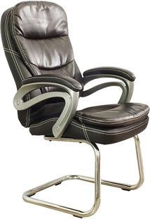 Cadeira Interlocutor Pel-9018V Cromada Marrom - Pelegrin