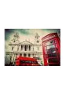 Painel Adesivo De Parede - Londres - Cabine Telefônica - 664Pnp