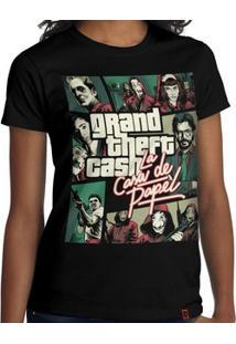 Camiseta Grand Theft Cash - Feminina