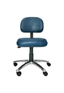 Cadeira Secretária Bits. Couro Ecológico. Base Alumínio. Ajuste De Altura Do Encosto E Assento. Rodízios. Prolabore Produtos Ergonômicos