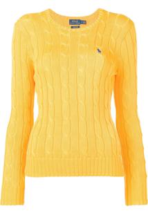 Polo Ralph Lauren Cable Knit Pullover - Amarelo