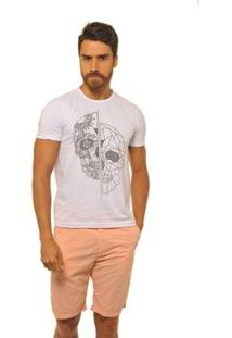 Camiseta Masculina Joss Cracked - Masculino-Branco
