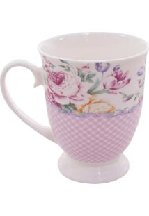 Caneca Minas De Presentes Flores Rosa