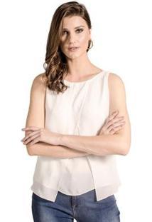 Blusa Regata Transpassada Alphorria Feminina - Feminino-Off White