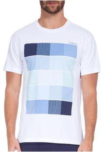 T-Shirt Osklen Stone Tones Of Blue Masculina - Masculino-Branco