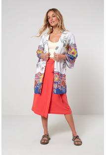 Jaquetas E Casacos Oh, Boy! Kimono Off-White - Kanui