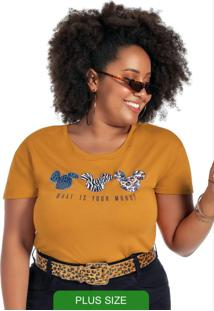 Blusa Com Estampa Animal Print Amarelo