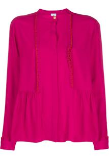 Ps Paul Smith Blusa Com Pregas No Acabamento - Rosa