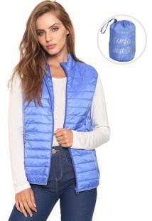 Colete Puffer Fiveblu Pocketable Azul