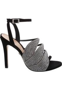 Sandália Salto Leaf Black Diamond | Schutz