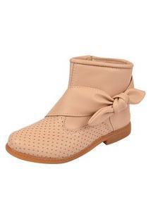 Bota Lulopé Menina Anklet Boot Laço Tan