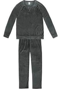 Pijama Feminino Em Poliéster Com Plush