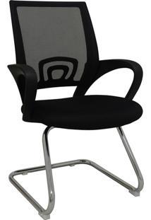 Cadeira De Escritório Base Fixa Santiago-Rivatti - Preto