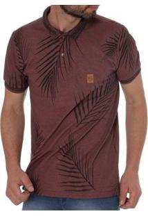 Camisa Polo No Stress Masculina - Masculino-Marrom
