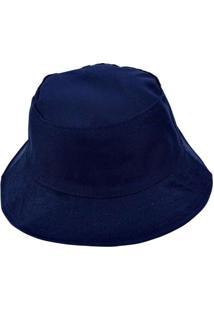 Chapéu Bucket Hat Liso Azul Azul