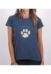 Camiseta Fernanda Almeida True Love - Feminino-Marinho