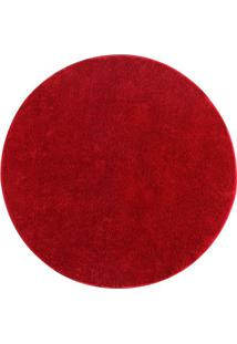 Tapete Classic Redondo- Vermelho- Ø100Cm- Oasisoasis