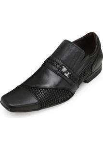 Sapato Focal Flex Couro Ff18-1518 Preto