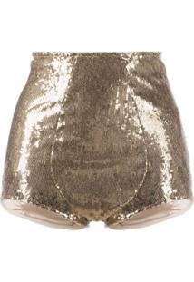 Dolce & Gabbana Calcinha Com Paetês - Dourado