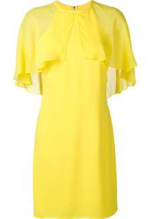 Karl Lagerfeld Vestido Com Pelerine - Amarelo