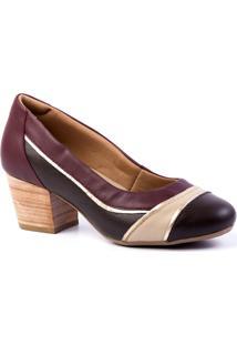 96ae24023 ... Scarpins Feminino 289 Em Couro Doctor Shoes - Feminino-Vinho
