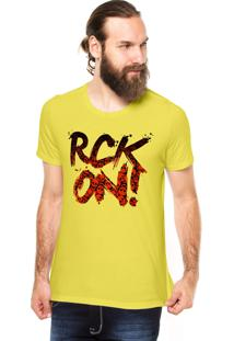Camiseta Rgx Rock On! Amarela