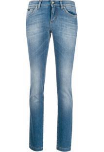 Dolce & Gabbana Calça Jeans Skinny Com Efeito Desbotado - Azul