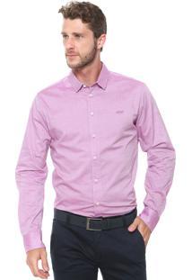 Camisa Colcci Slim Rosa